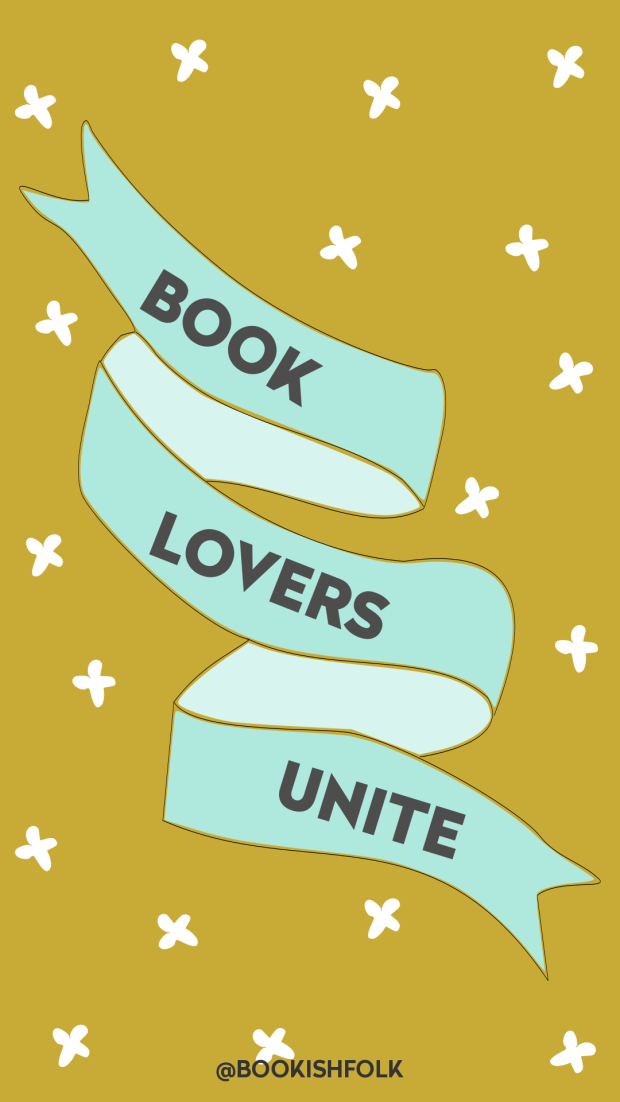 BOOK LOVERS UNITE WALLPAPER #3